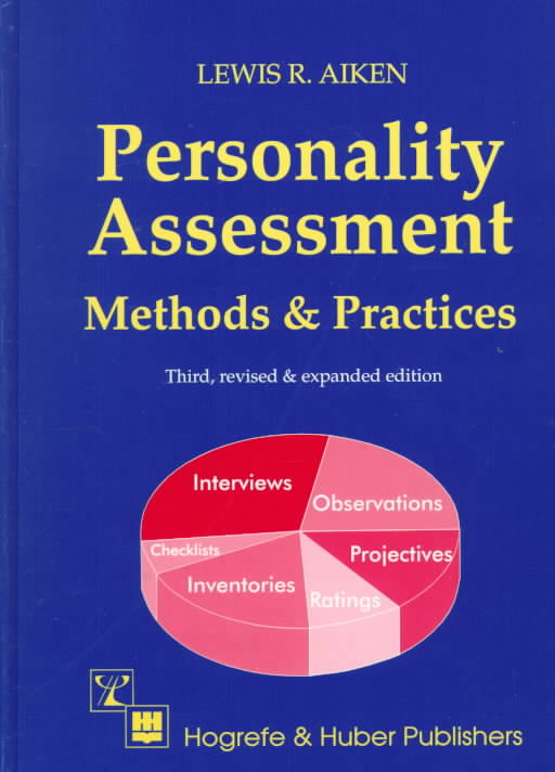 Personality Assessment Methods and Practices By Aiken, Lewis R.